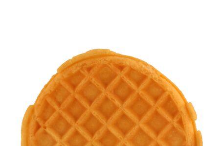 Isolated breakfast waffle