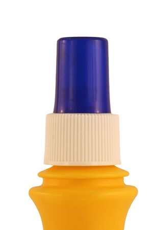A Isolated spray butter bottle on white