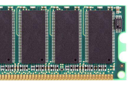 A Random access memory chip on white