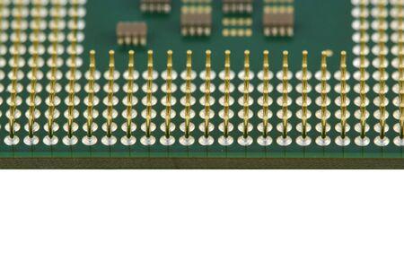 A Computer processor CPU close up Фото со стока