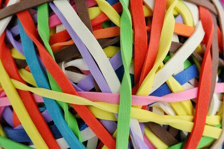 rubberband: Una bola de color rubberband macro