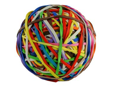 rubberband: A isolated colored rubberband ball macro Stock Photo