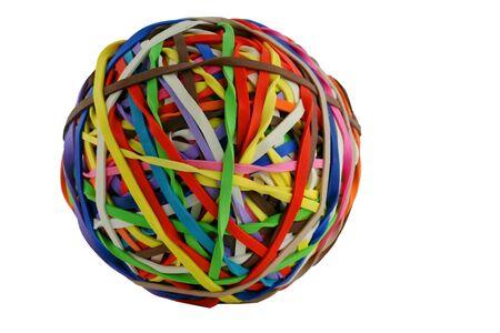 A isolated colored rubberband ball macro Banco de Imagens