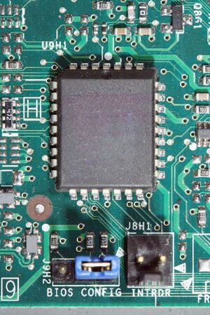 A Computer chip and circuit board