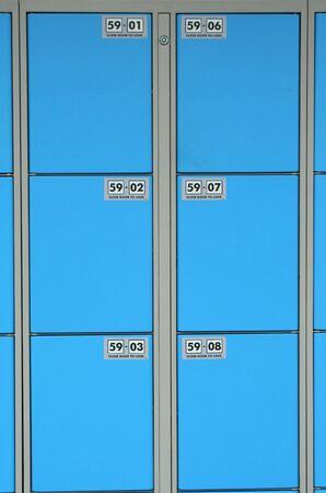 Blue storage locker background