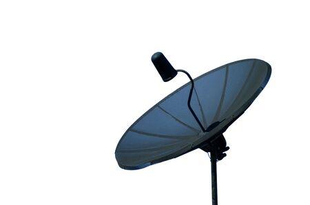 antena parabolica: Una antena parab�lica Negro contra un cielo azul