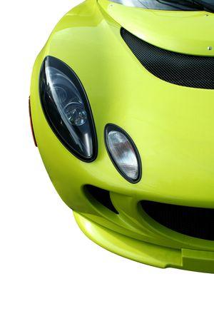 孤立した黄色のスポーツ車 写真素材 - 3643985
