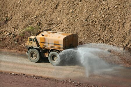Water truck working at a rock quarry Stock Photo - 3670825