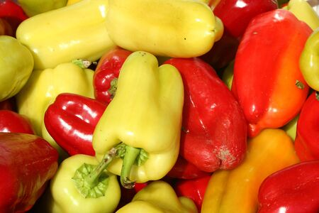 bell peppers: A Bunch of sweet bell peppers background