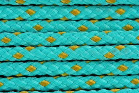 A Blue cord background macro