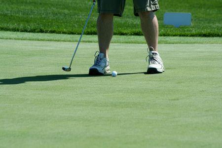 緑を置くのゴルファー 写真素材