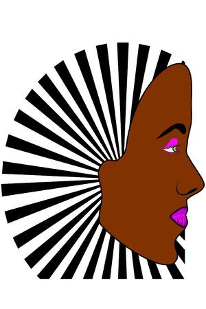 dark skin: A Young dark skin womans face