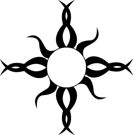 A Tribal Sun Tattoo photo