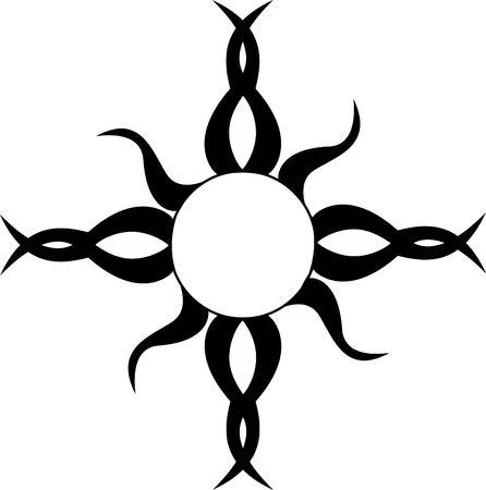 sun: A Tribal Sun Tattoo