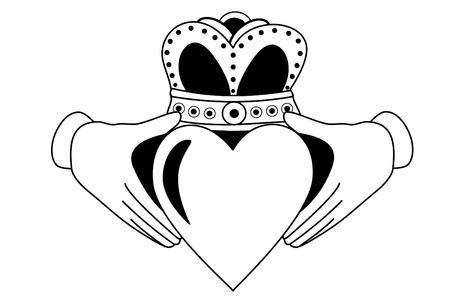 Claddagh tribal tattoo Illustration