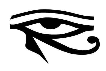 occhio di horus: Un occhio di Horus tatuaggio tribale Vettoriali