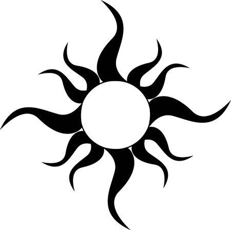太陽のトライバルタトゥー