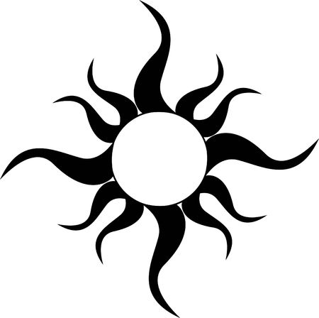 A Tribal Sun Tattoo