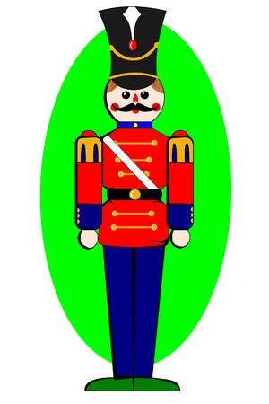 wood figurine: Un soldado de juguete de madera