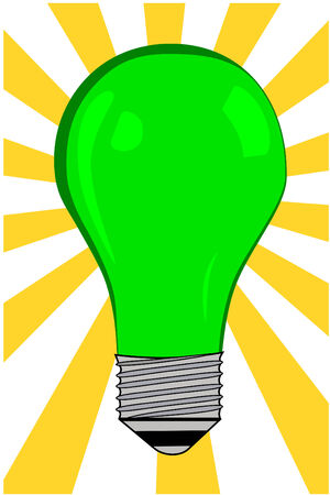 Green electric Light blub vector Imagens - 3971221