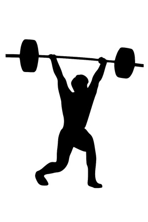 lifting: A Macho weightlifter silueta