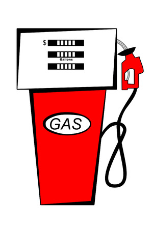 fuel economy: Red Gas Pump Illustration