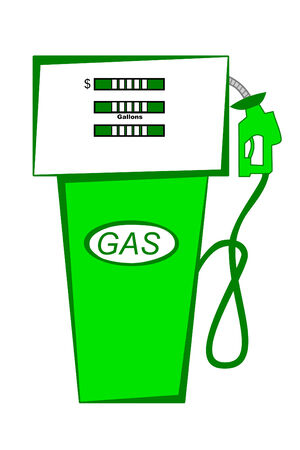 fuel economy: Green Gas pump