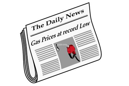 Newspaper with Gas headlines Ilustração