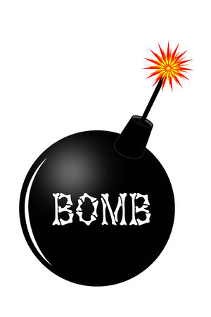 A bomb with a burning fuse Stock Vector - 4035500