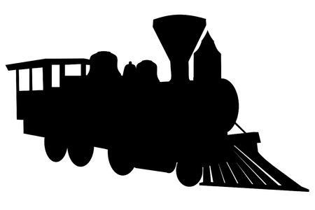 railway transportation: Steam locomotive silhouette