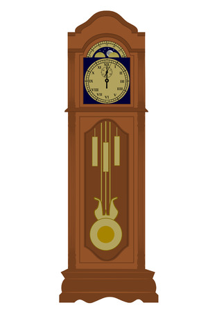 A Grandfather clock with date