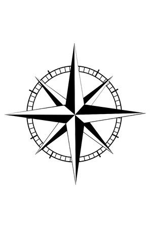 Nautical star Stock Illustratie