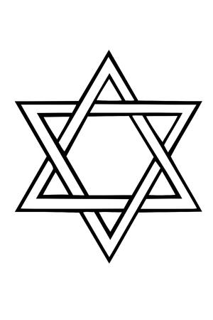 etoile juive: Etoile de David Illustration