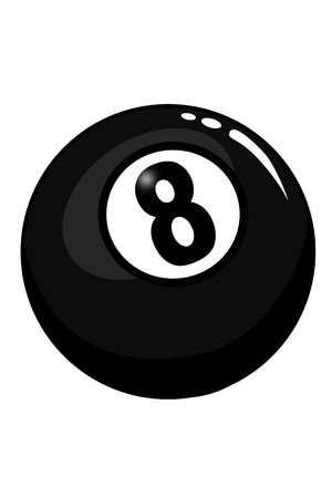 pool ball: La bola ocho Vectores