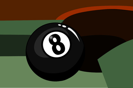 A Eight ball in the corner pocket Stock Vector - 4106446