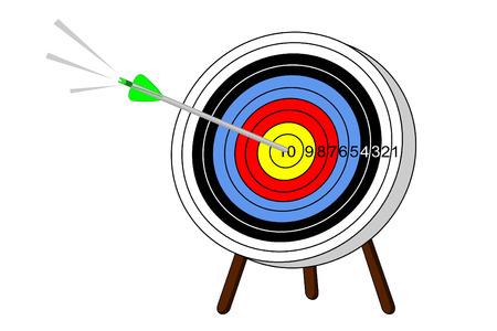 bullseye: Ein Pfeil trifft ins Schwarze auf ein Ziel