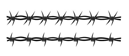 metal wire: Set of two barbed wire tribal tattoos