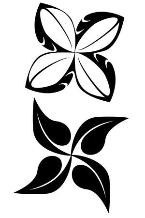 Two tribal flower tattoos