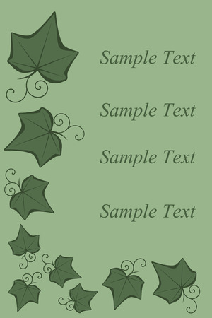 A ivy background design add your text Ilustracja