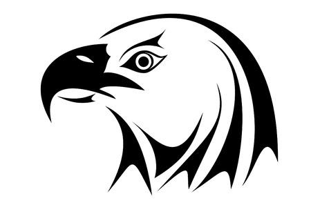 Bald eagle head tribal tattoo Vector