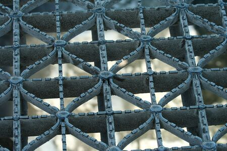 grating: A Metal bridge grating abstract background