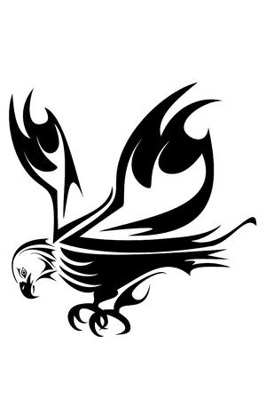 eagle tattoo: Bald eagle head tribal tattoo