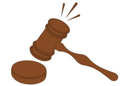 pounding: A pounding wooden gavel Gavel