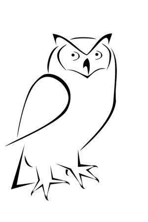 A owl tribal tattoo