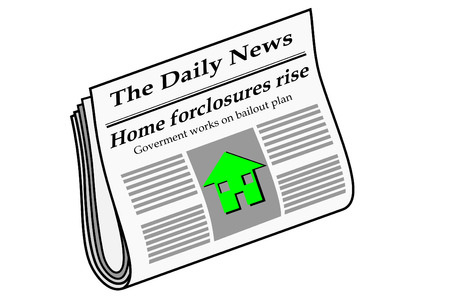 Newspaper with foreclosure headlines