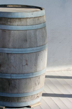 A Old wooden barrel