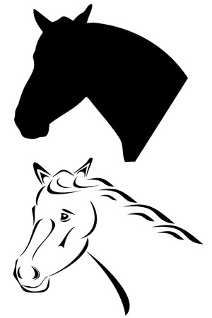 A black tribal horse tattoo