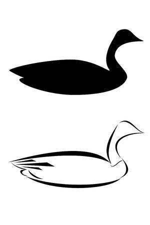 A tribal canadian goose tattoo Zdjęcie Seryjne - 4345891