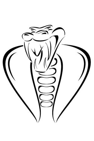 Een cobra slang tribal tattoo Stock Illustratie