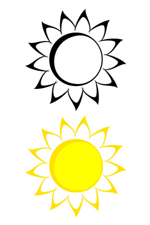 A tribal sunflower tattoo set Vector